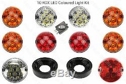 10 RDX LED Traditionnel Kit Eclairage 8 Standard Brouillard Arrière Défenseur