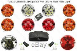 10 RDX Led Traditionnel Kit Eclairage 8 Standard Brouillard Arrière N° Lampe