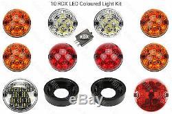 10 RDX Led Traditionnel Kit Eclairage 8 Standard Brouillard Arrière Protection
