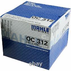 10x Original Mahle / Knecht Filtre Oc 312 + 10x Sct Moteur Flush Rinçage de