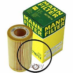10x Original Mann Filtre à Huile Hu 718/1 Z + 10x Sct Moteur Flush Rinçage de