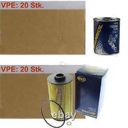 20x Original Sct Filtre à Huile Sh 430 P + 20x Moteur Flush Rinçage de