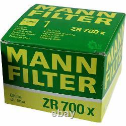 36x Original Mann Filtre à Huile ZR 700 X + 36x Sct Moteur Flush Rinçage de