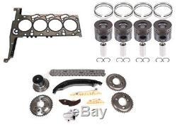 4x Piston +0,25 joint de Culasse Kit de distribution de la chaîne Ford 2,2 TDCi