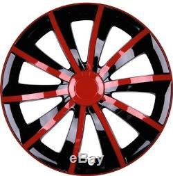 4x Premium Design Enjoliveurs, Décoration pour Roues Kit Graal 14 Pouces en