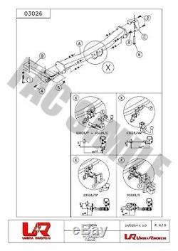 Attelage Col Cygne + 13b C2 Kit pour Rover Freelander SUV 4 WD 07-12 03026/F E1