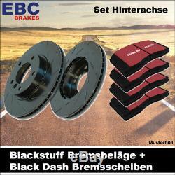 EBC Kit de Freins Essieu Étoffe Noire Plaquettes Black Dash Disques 20862