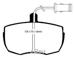EBC Kit de Freins Essieu Étoffe Noire Plaquettes Black Dash Disques 23262