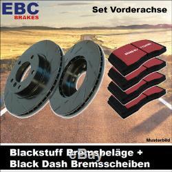 EBC Kit de Freins Essieu Étoffe Noire Plaquettes Black Dash Disques 24048