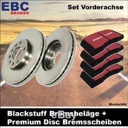 EBC Kit de Freins Essieu Étoffe Noire Plaquettes Premium Disc Disques 25814