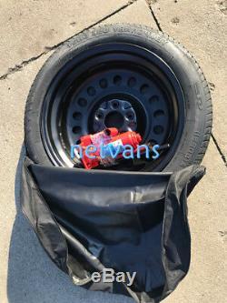 KIT roue de secours galette 17 LAND ROVER EVOQUE AVEC CRIC CLE ET SAC