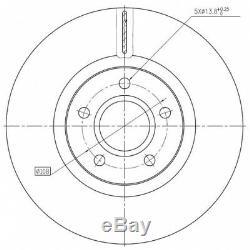 Kit Disques De Frein Avant Pd246q 250135320 1421144 F1012v 562363b Bdm715320