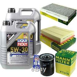 LIQUI MOLY 10L 5W-30 huile moteur + Mann Filterpaketland Rover Gamme Sportls