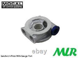 Land Range Rover V8 SD1 3.5 3.9 Mocal 5/8BSP Tuyau Caoutchouc Huile Cooler Kit