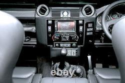 Land Rover Defender 90/110 Double din Panneau Sat Nav Tête Unité Façade Kit