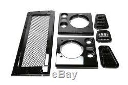 Land Rover Defender 90/110 Maille Style Calandre & Phare & Ventilation Kit