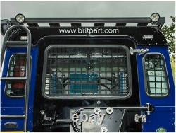 Land Rover Defender 90 2002-ON Arrière Externe Fenêtre Protection Grille Set Kit