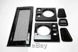 Land Rover Defender Maille Style Brillant Noir Visage Ascenceur Kit Pièce #