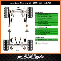 Land Rover Discovery 1 Paliers Suspension avant & Arrière Mega Ext Kit en Poly