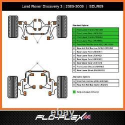 Land Rover Discovery 3 Moyeu Kit Avant + Anti-roulis Fourche Poly 2004-09