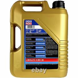 Liqui Moly 7L Longlife III 5W-30 Huile + Mann Pour Land Rover Discovery IV La