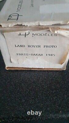 Miniature de rallye raid Kit résine Land rover proto Pacific Paris Dakar