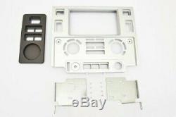 Panneau Installation Kit 2 Double Din Land Rover Defender TD4 60° en Silver