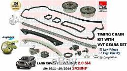 Pour Land Rover Freelander 2.0 SI4 241BHP 2011- Kit Chaîne Distribution + Vvt