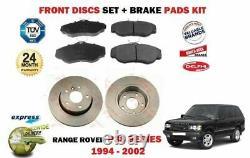 Pour Range Rover P38 3.9 4.0 4.6 2.5TD 1994-2002 Avant Kit Disque Frein + Patins