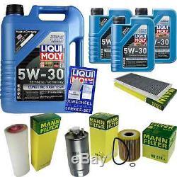 Révision Filtre Liqui Moly Huile 8L 5W-30 pour BMW X5 E53 3.0d Land