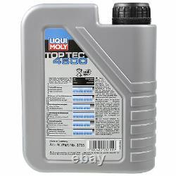 Sketch D'Inspection Filtre Liqui Moly Huile 8L 5W-30 Pour BMW 3er E46 320d 318d