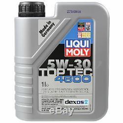 Sketch D'Inspection Filtre Liqui Moly Huile 8L 5W-30 Pour LN