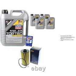 Sketch D'Inspection Filtre Liqui Moly Huile 9L 5W-40 pour BMW Série 7er E38
